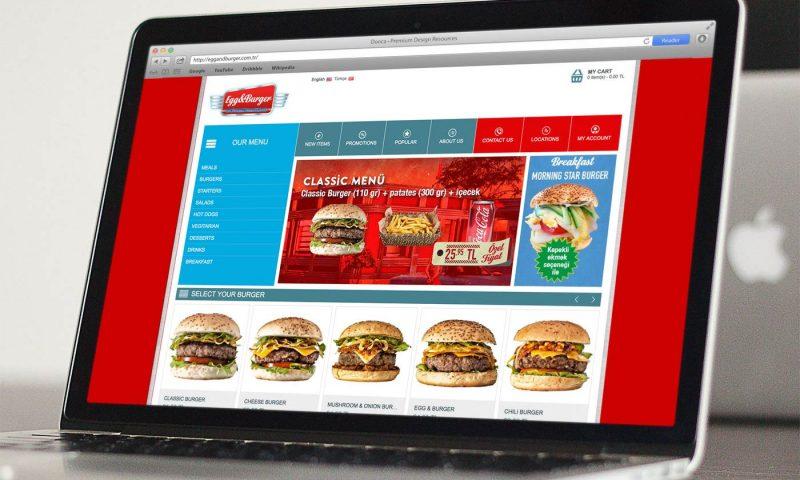 Egg & Burger online store